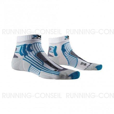 X-SOCKS Chaussettes Marathon Energy femme   Arctic White / Teal Blue