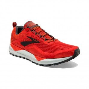 BROOKS CASCADIA 14 Homme | Red/Ebony/Grey