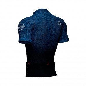 COMPRESSPORT Tee-shirt manche courte TRAIL POSTURAL SS TOP Homme | Bleu mélange
