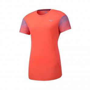 MIZUNO Tee-Shirt manches courtes AERO PREMIUM Femme | Hot Coral | Collection Printemps-Été 2019