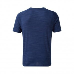RONHILL T-SHIRT MANCHE COURTE AIR-DRY INFINITY Homme | MIDNIGHT BLUE/FLAME