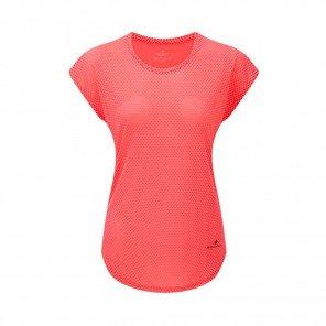 RONHILL Tee-Shirt manches courtes DELUXE MOMENTUM Femme | Hot Pink/Charcoal | Collection Printemps-Été 2019